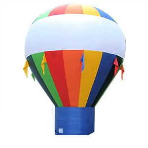 20 Foot Tall Hot Air Shaped Multi-Color Cold Air Balloon Image